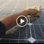 Solar panel dusting
